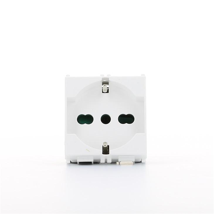 Presa di corrente Sicury universale bianco 2P+T 16 A 250 V~ Serie Plana Plana