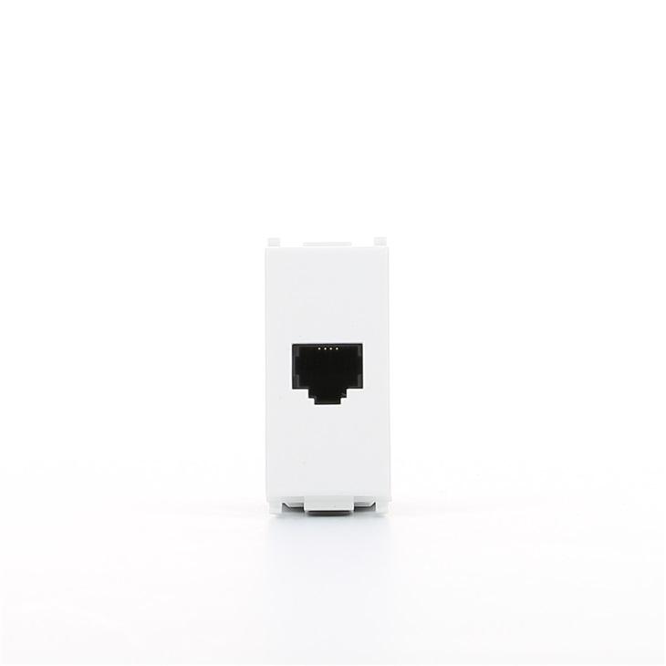 Presa telefonica bianco RJ11 6/4 Serie Plana Plana