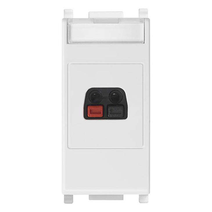 Connettore diffusore sonoro bianco Plana