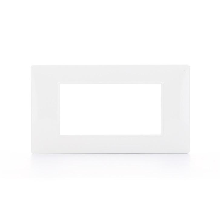 Placca a 4 Moduli bianco Plana