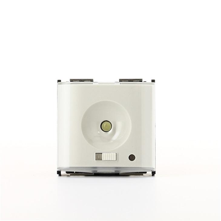 Torcia + presa ricarica 230V bianco Idea