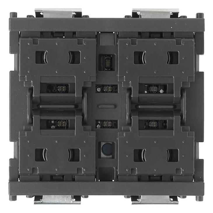 Comando quattro pulsanti KNX grigio