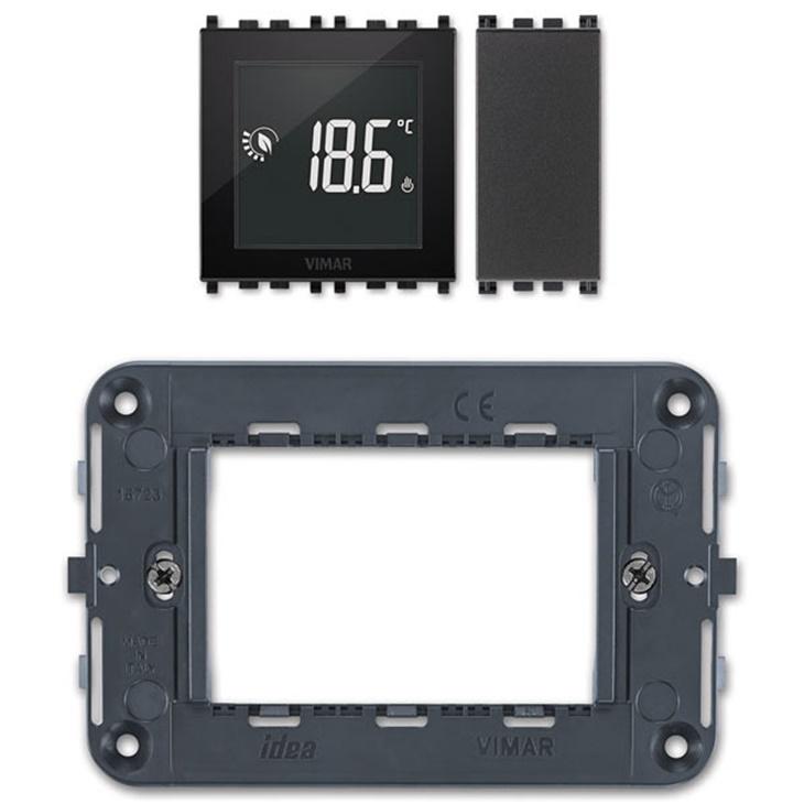 KIT termostato touch 3M 120-230V grigio