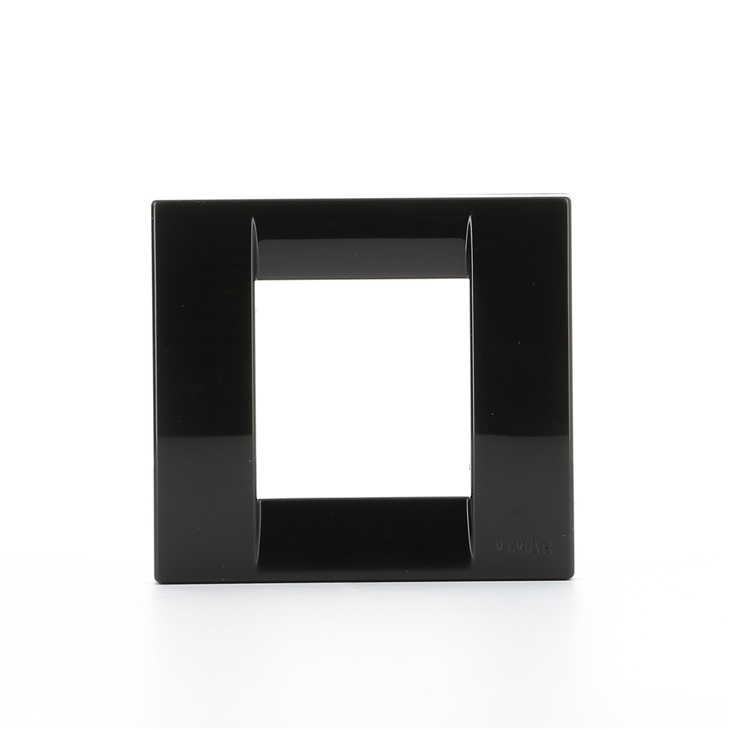 Placca Classica 1 modulo o 2 moduli ridotti nero Idea