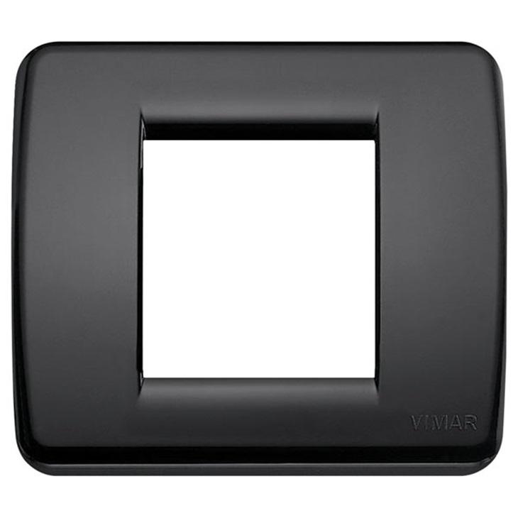 Placca Rondò 1-2M nero Idea