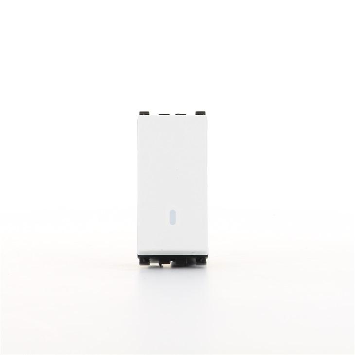 Interruttore illuminabile 1P 16AX bianco Arkè