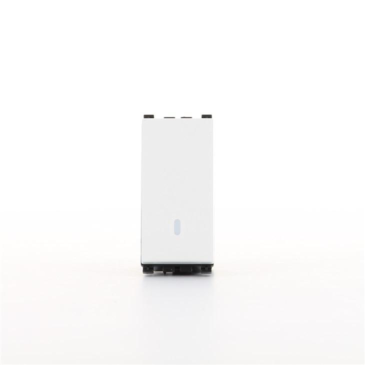 Deviatore illuminabile 1P 16AX bianco Arkè
