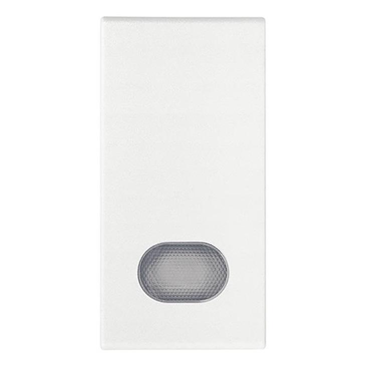 Tasto 1M con diffusore bianco Arkè