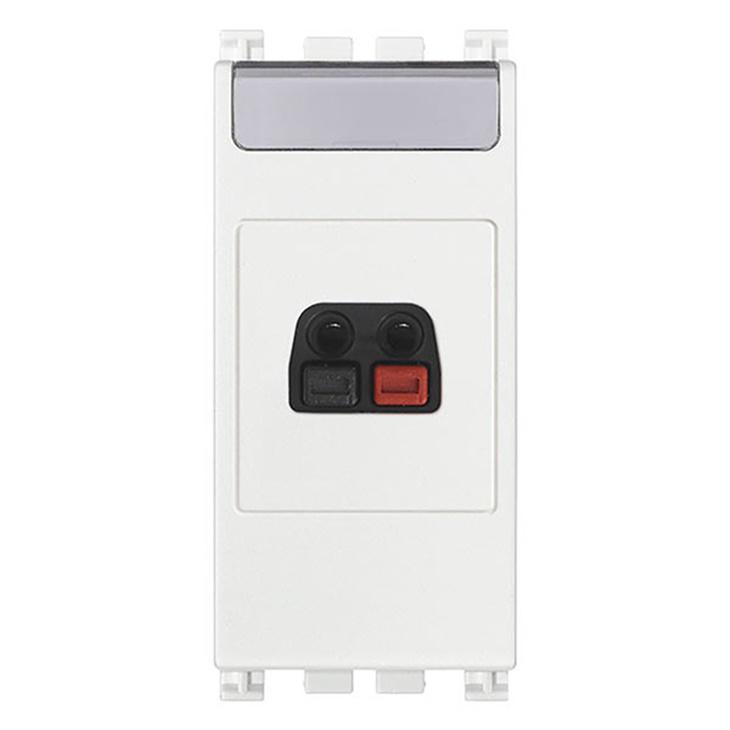 Connettore diffusore sonoro bianco