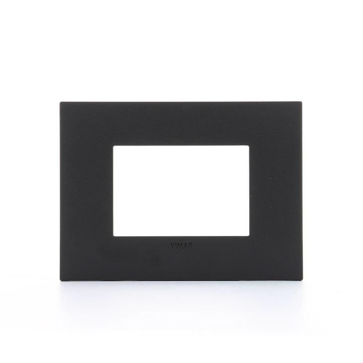 Placca Classic 3 moduli nero Arkè