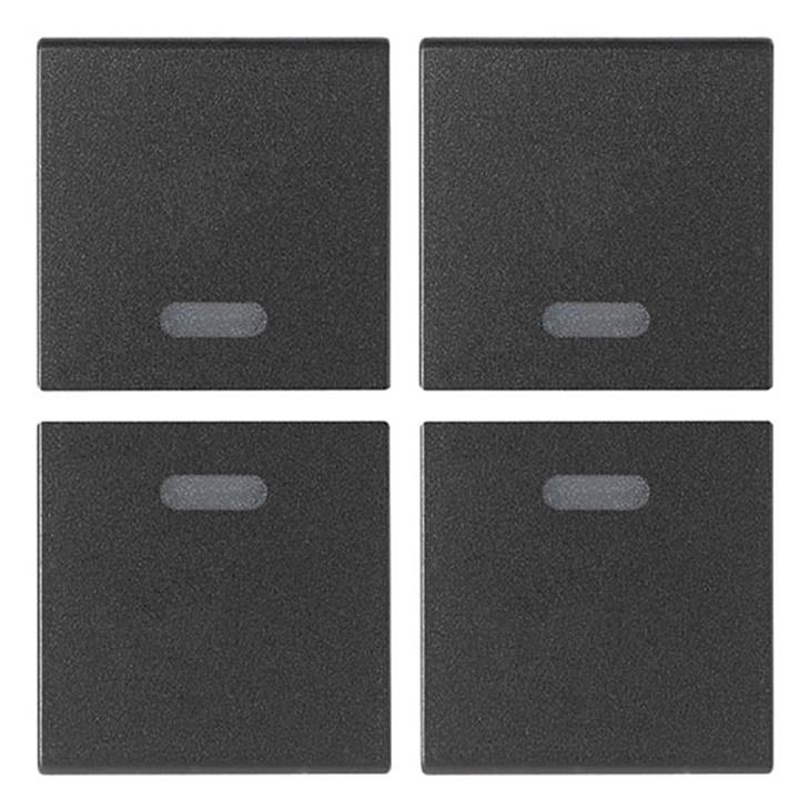 Quattro mezzi tasti 1M neutri grigio