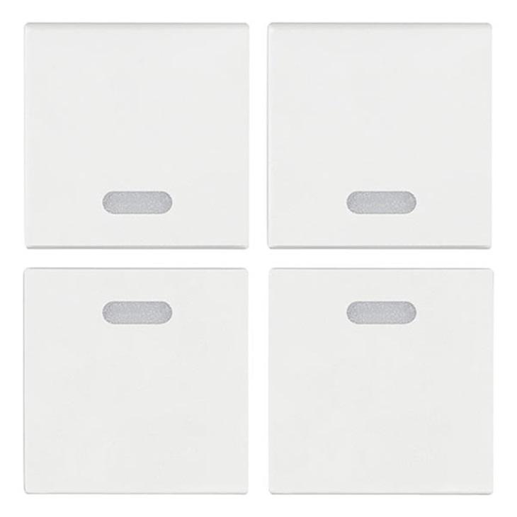 Quattro mezzi tasti 1M neutri bianco Arkè