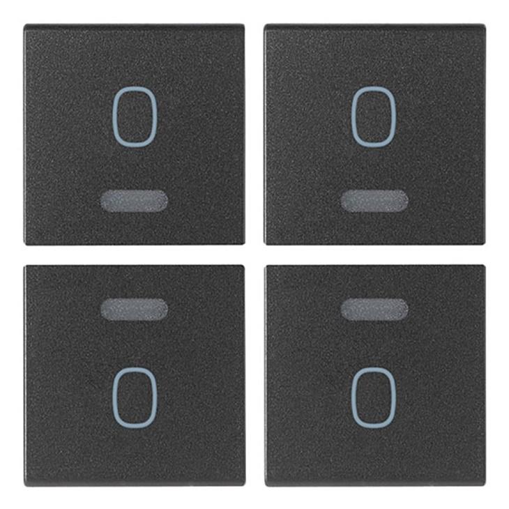 Quattro mezzi tasti 1M simbolo O grigio