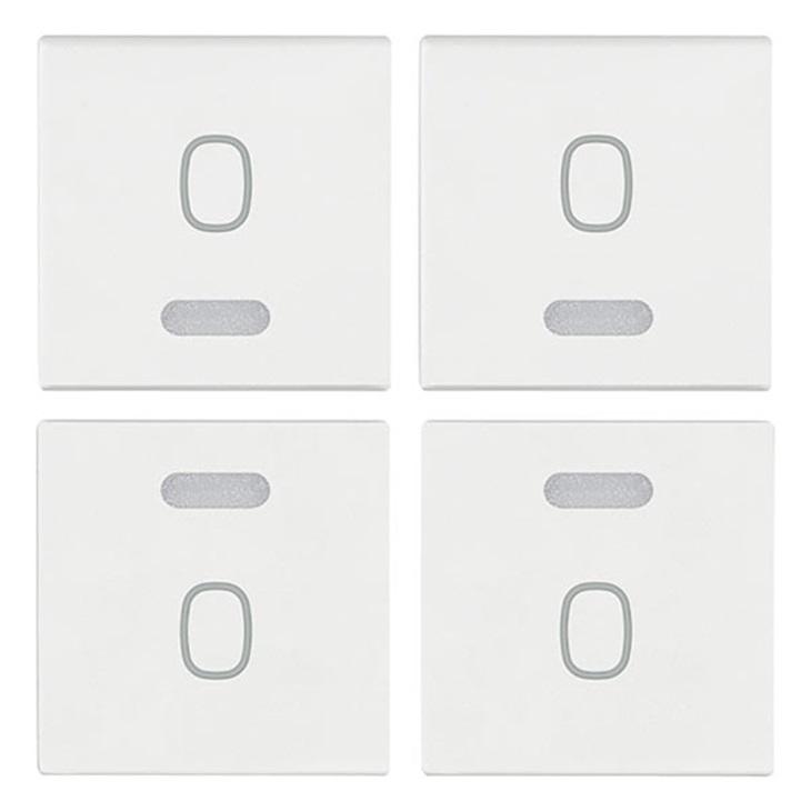 Quattro mezzi tasti 1M simbolo O bianco Arkè