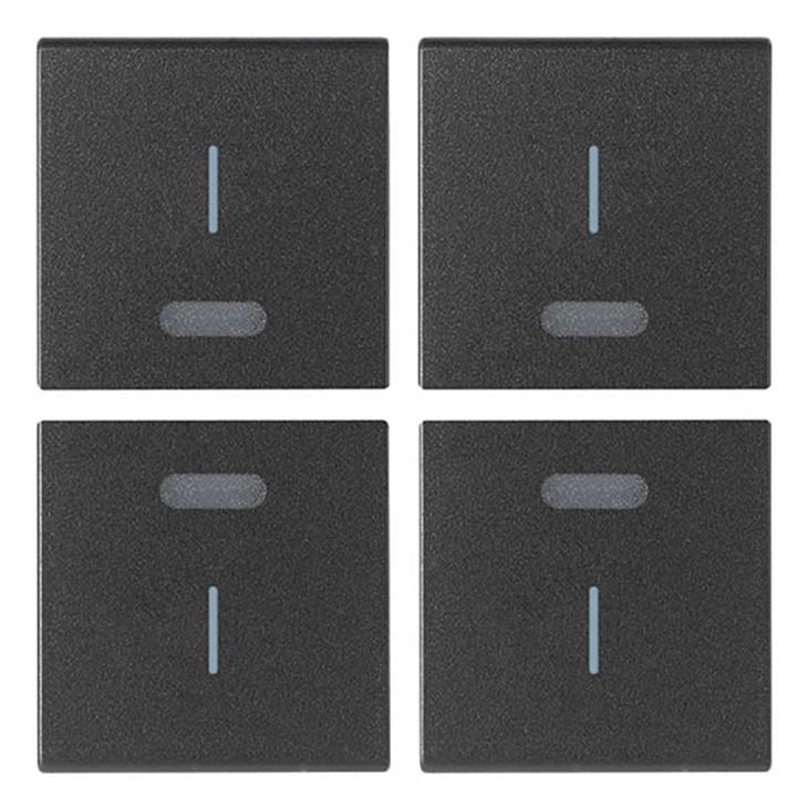 Quattro mezzi tasti 1M simbolo I grigio