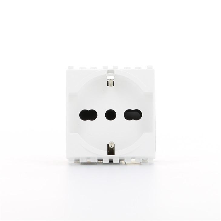 Presa SICURY 2P+T 16 A 250 V~ universale bianco Eikon