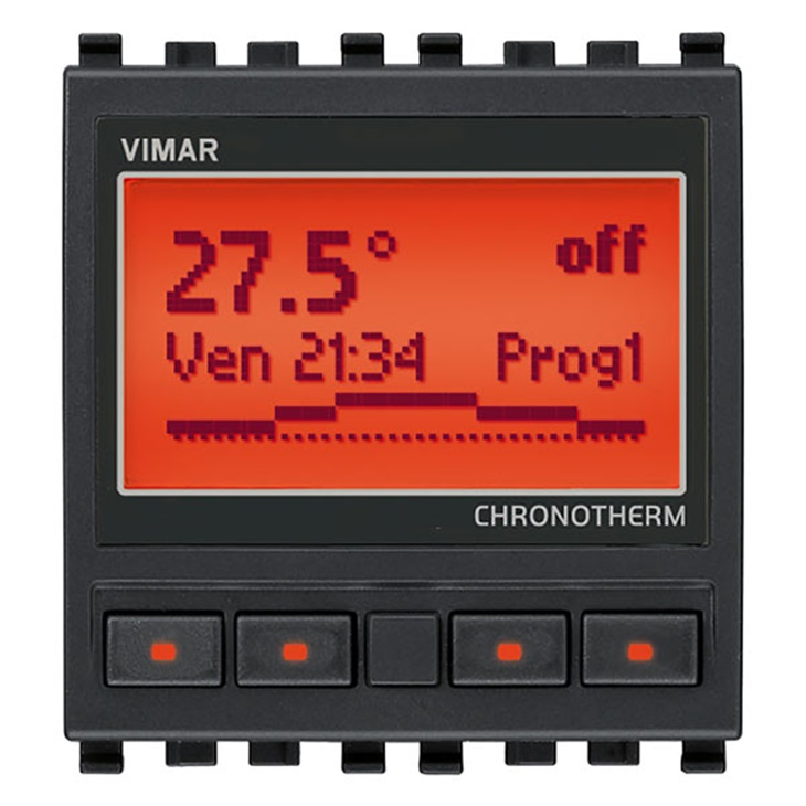 Cronotermostato 120-230V grigio