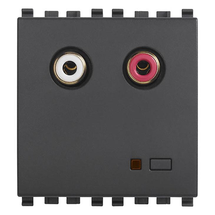 Ingresso audio RCA 2M grigio