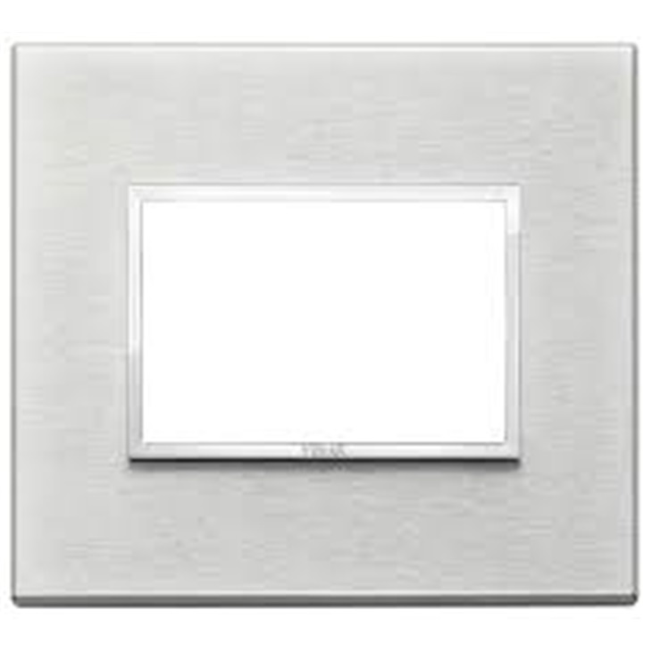 Placca 3 moduli, alluminio, grigio Next Eikon
