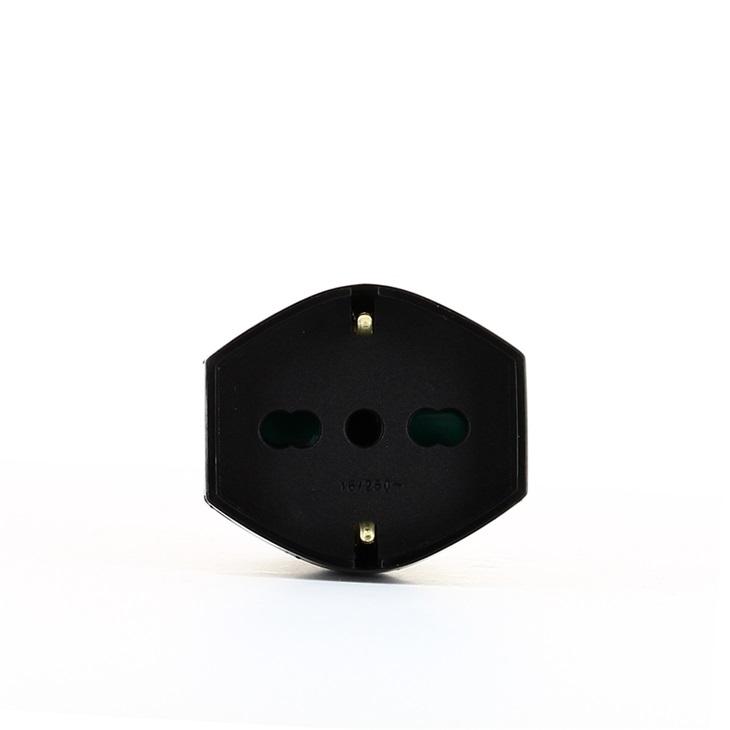Presa mobile SICURY 2P+T 16 A 250 V~ assiale universale nero