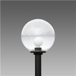 Lampadario Globo Sferico a colonna trasparente S 1350