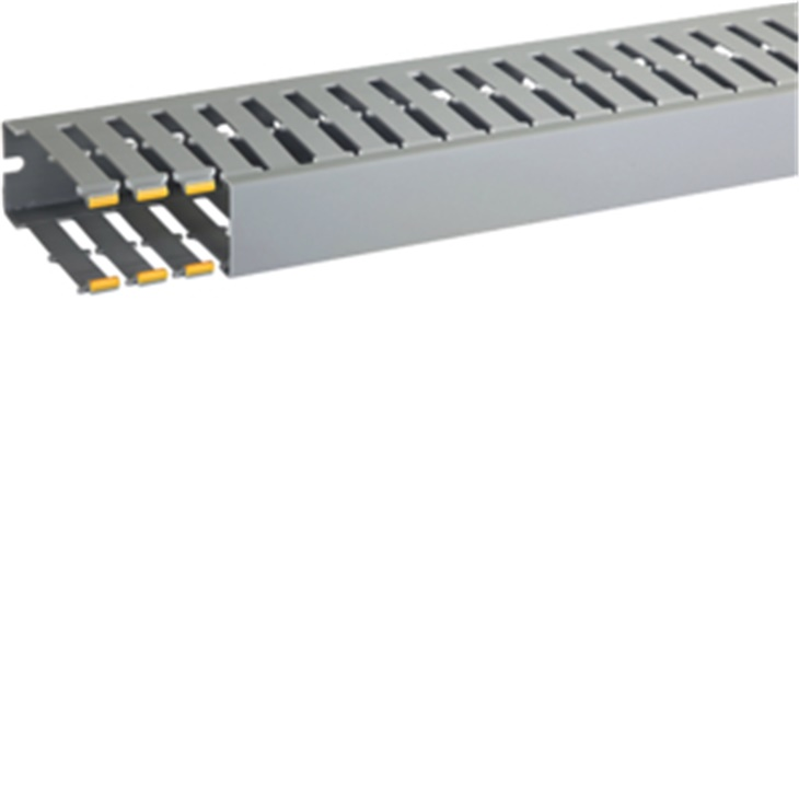 Canaletta con coestruso morbido 20 moduli 8 feritoie grigio T1-N 40x100 mm