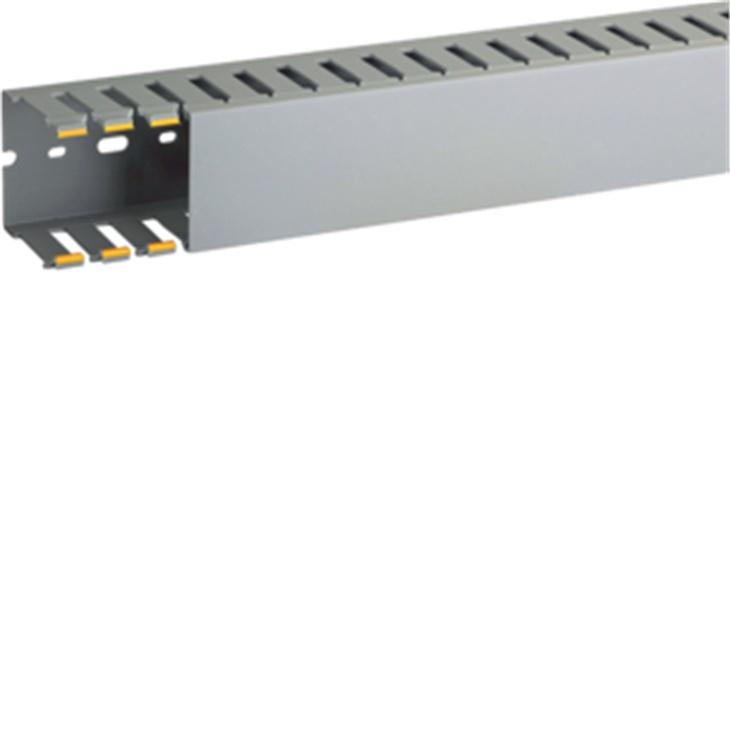 Canaletta con coestruso morbido 20 moduli 8 feritoie grigio T1-N 60x60 mm