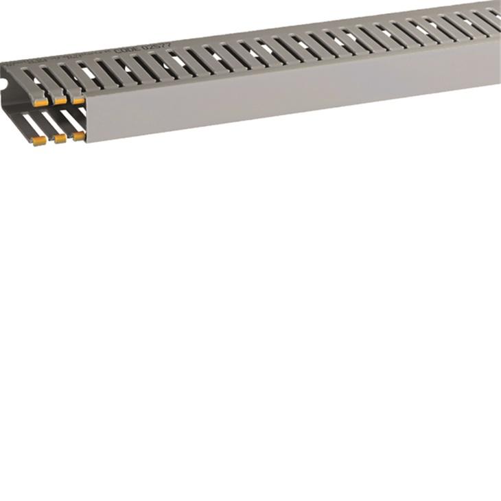 Canaletta con coestruso morbido 10 moduli 4 feritoie grigio T1-EN 25x60 mm