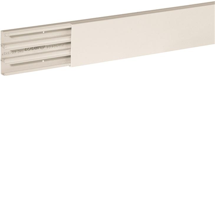 Distanziatore minicanale con base forata con fori diametro 2,5 mm interasse 125 mm bianco TMC 60/3x17