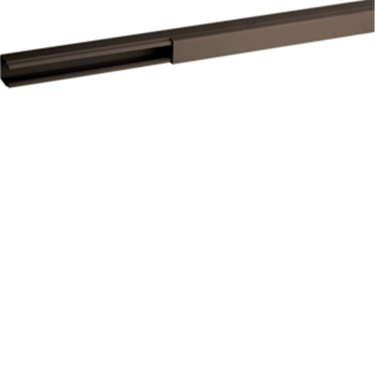 TMC 15/1x17 B Minicanale monoscomparto con coperchio standard MARRONE