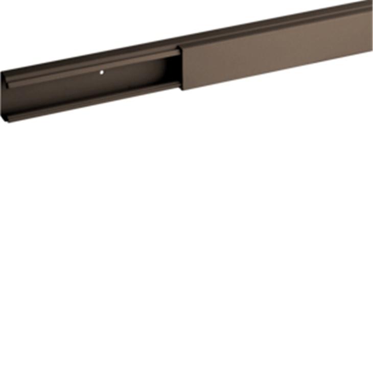 TMC 25/1x17 B Minicanale monoscomparto con coperchio standard MARRONE