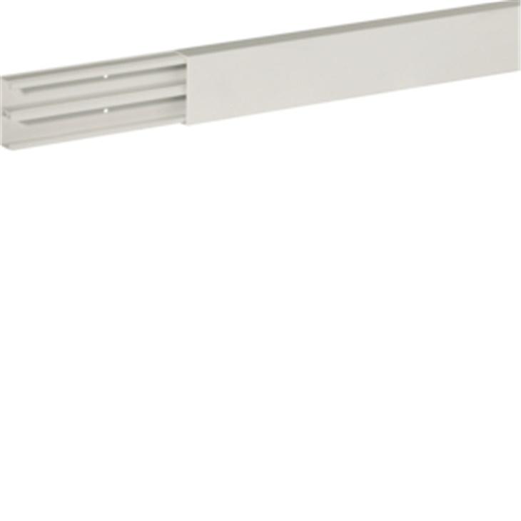 TMU 40/2x17 W Minicanale monoscomparto con coperchio avvolgente BIANCO