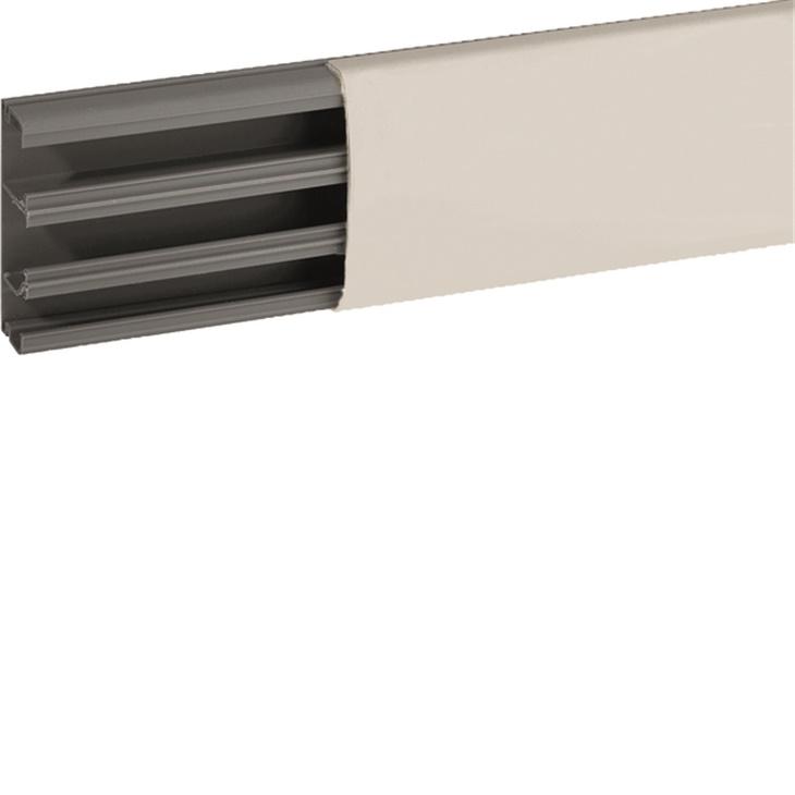 Canale cornice completo di coperchio e base bianco RAL 9001 TCN