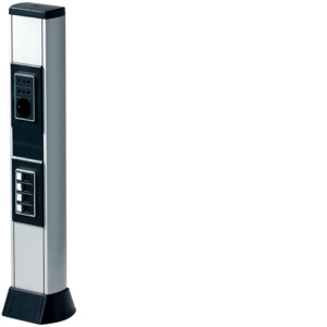 BIS 660 AN Colonna bifacciale in alluminio porta apparecchi ALLUMINIO ANODIZZATO