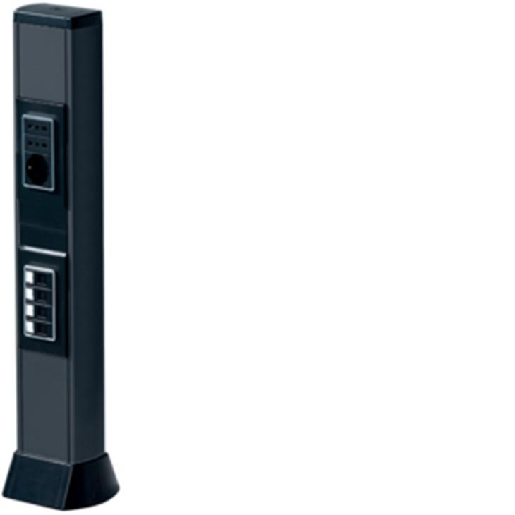BIS 660 NR Colonna bifacciale in alluminio porta apparecchi NERO ARDESIA