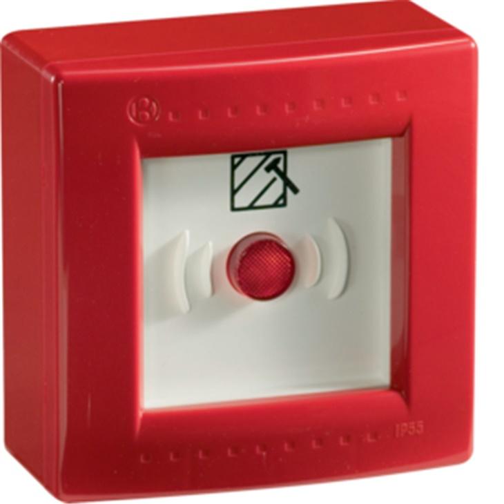 IP55 CE PULS R Centralino stagno con pulsante illuminabile ROSSO