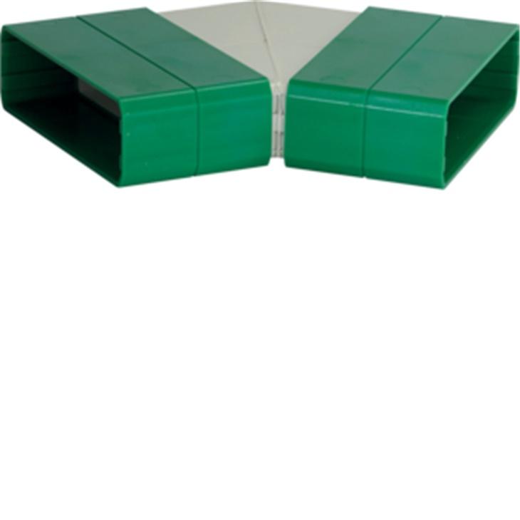 MC45 110x30 Curva piana per canale Metrò Fast BIANCO