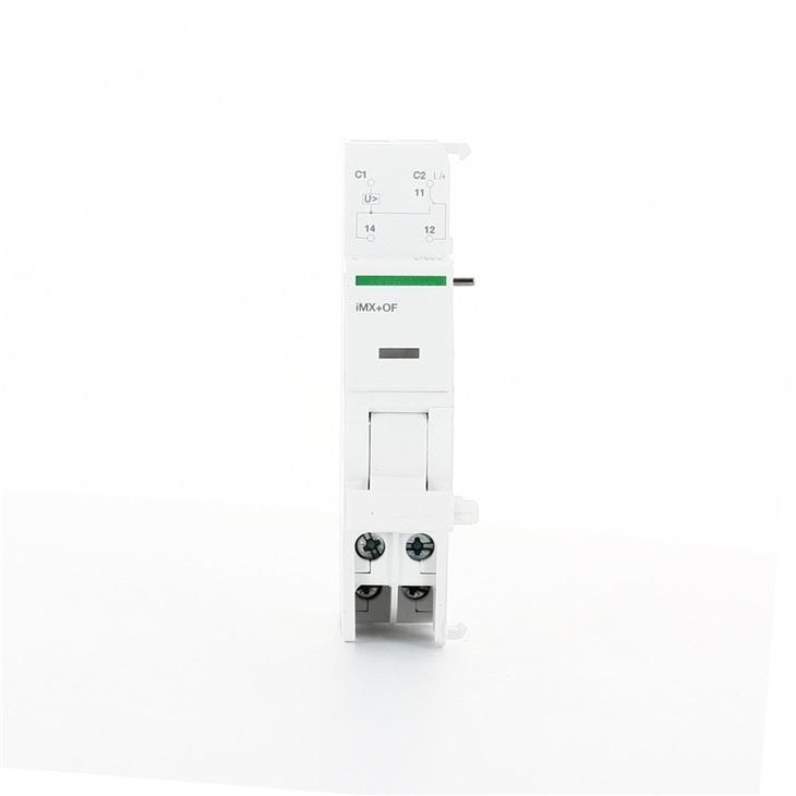 Bobina di sgancio con contatto aperto/chiuso lancio corrente IMX+OF 110/415V ca 110/130V cc