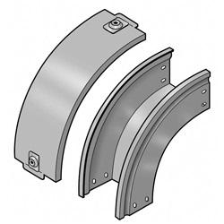 Curva in discesa a 90 completa di coperchio 100x75 mm Z P31