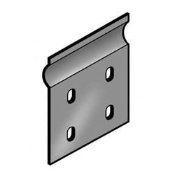Giunto piano con bulloneria altezza 75mm lunghezza 100 mm acciaio zincato Z P31