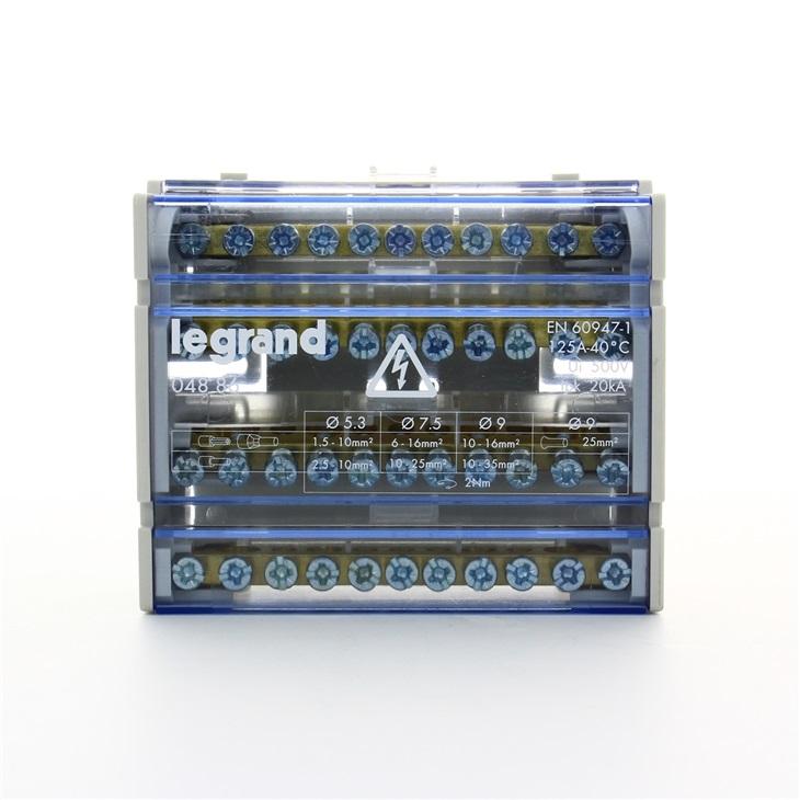 Morsettiere 125A 4 poli 6 moduli