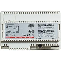Alimentatore per impianti citofonici e videocitofonici 2 fili in custodia modulare 8 DIN