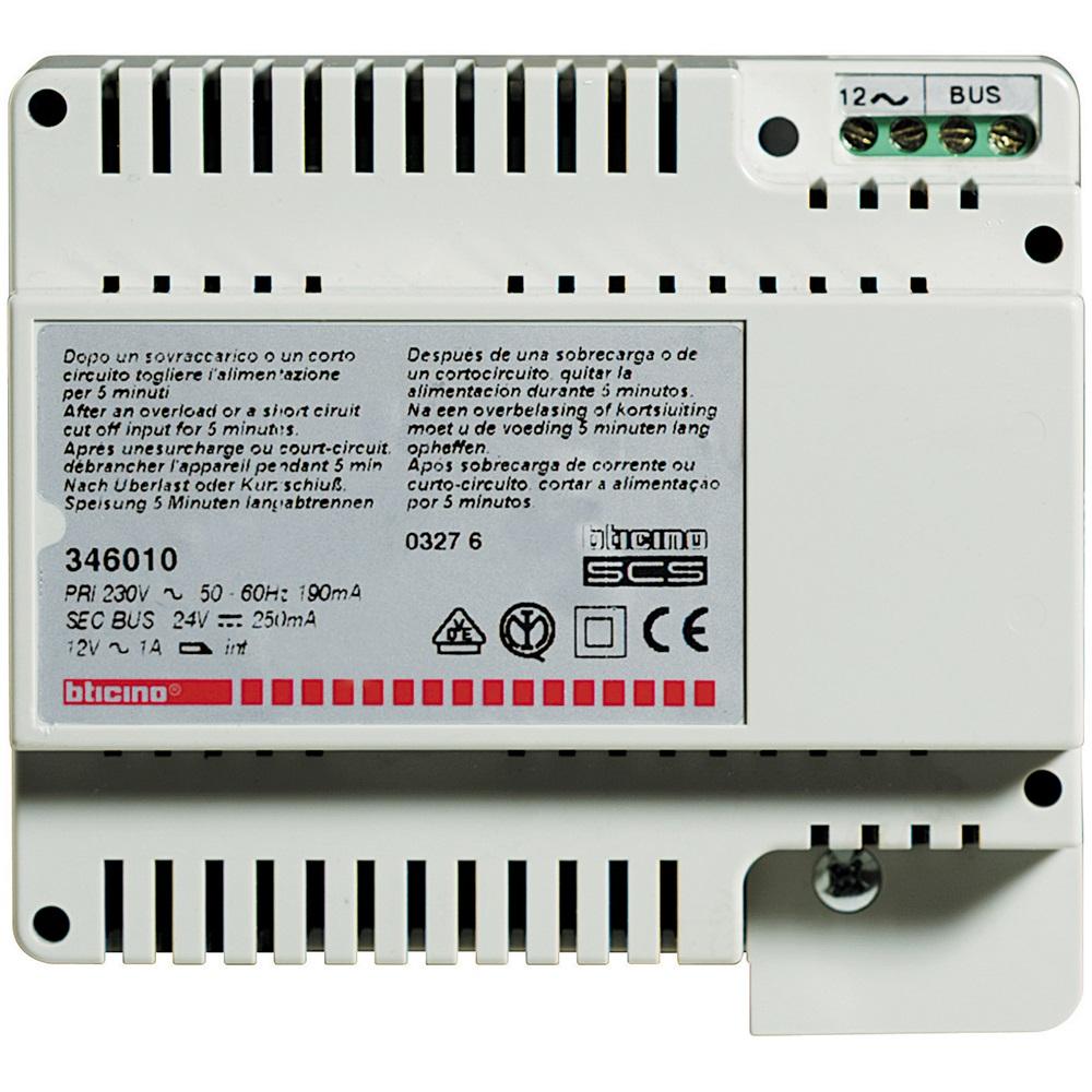 Alimentatore Bticino 672.Alimentatore 2 Fili Per Impianti Audio E Video 0 5a 346010