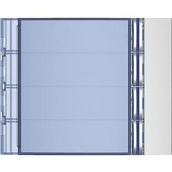 Frontale 4 pulsanti su colonna singola finitura Allmetal