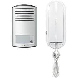 Kit audio 2 FILI monofamiliare con pulsantiera LINEA 2000 da parete e citofono SPRINT L2