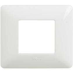 Placca 2 moduli colore bianco