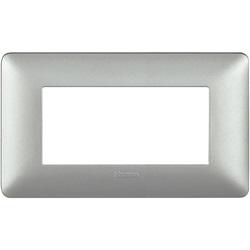 Matix - Placca 4P Silver Bticino Spa