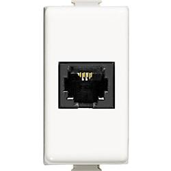 Connettore telefonico RJ11 1 modulo connessione a morsetto colore bianco