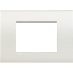 Placca quadra 3 moduli bianca