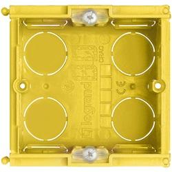 Scatola 2 moduli da incasso per soffitti in muratura 71x71x53,5 mm